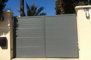 Marbella mounting of automatic entrance gate and speaker system